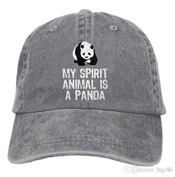 2a8e0e2837f Unisex My Spirit Animal Is A Panda Vintage Jeans Baseball Cap Classic  Cotton Dad Hat Adjustable Plain Cap Multi Color Optional Hat Beanies From  Hqy86