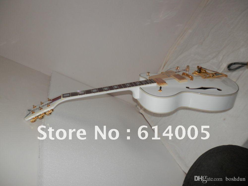 Wholesale - Custom Shop 6120 Hollow body White Falcon Electric Guitar with AND CASE in stock734