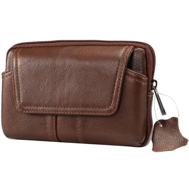 Acheter Mâle En Cuir Véritable Téléphone Holster Case Holder Bag Noir En  Cuir Horizontal Portefeuille Avec Taille Ceinture Boucle Cellulaire Taille  Pack ... f22d2812863