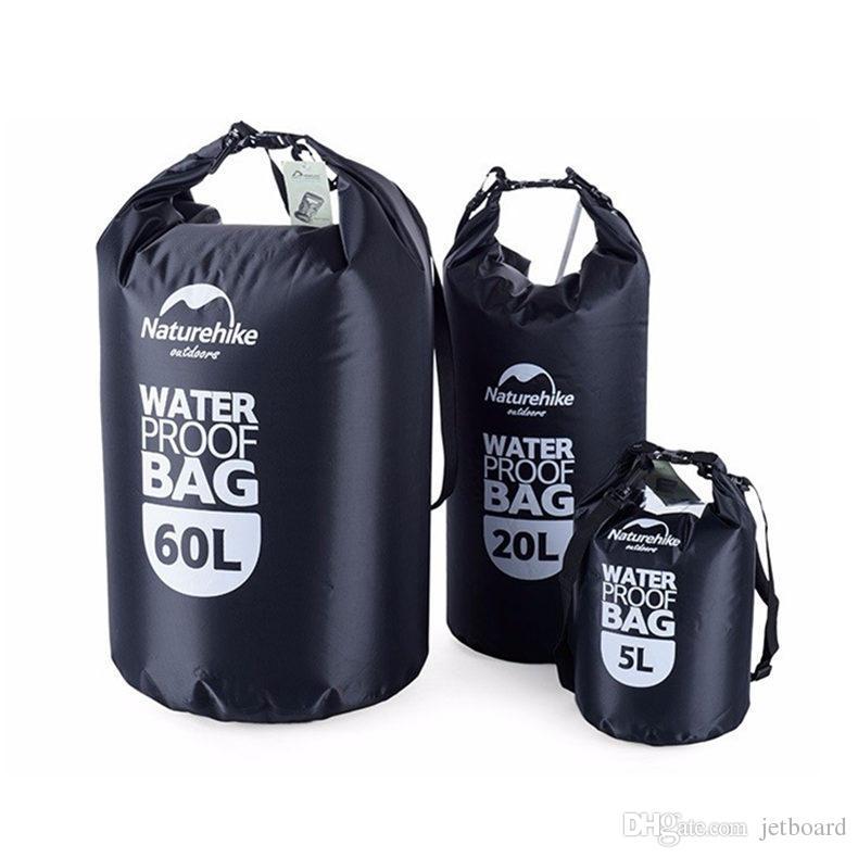 91019e468887 Naturehike 5L 20L 60L Waterproof Bags Storage Dry Sack Bag For Canoe Kayak  Rafting Outdoor Sport Bag