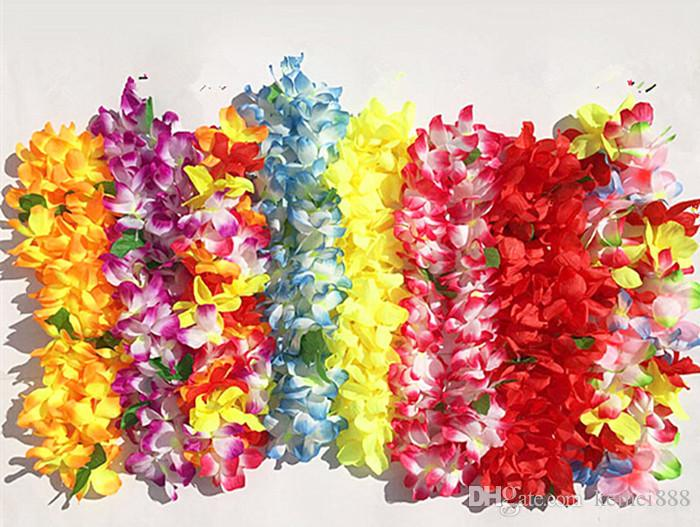 2018 30pr wedding decor hawaiian luau flower lei party favors silk 2018 30pr wedding decor hawaiian luau flower lei party favors silk flower leis bracelets craft 3543 from kemei888 999 dhgate mightylinksfo