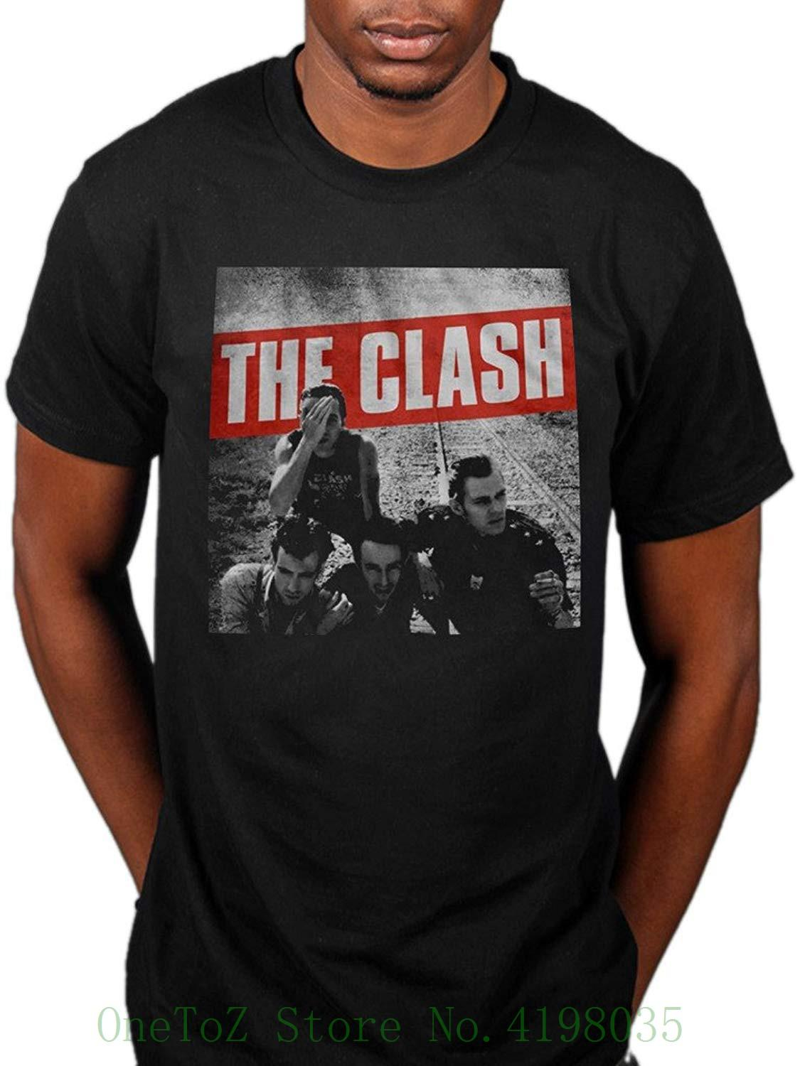 c5392b7d3cb Official The Clash Combat Rock T Shirt Cut The Crap London Calling Man  Fashion Round Collar T Shirt Shirts And Tshirts Tee Shirts Sale From  Onetozstore