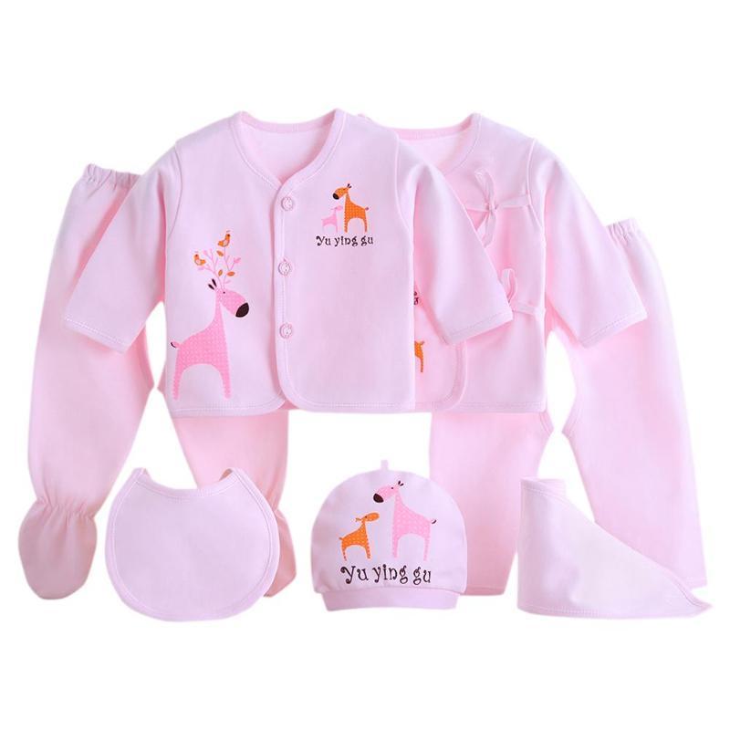 326dd1922547 2019 Cotton Newborn Baby Clothes Set Infants Suit Tops Pants Hat Burp Cloth  From Buycenter