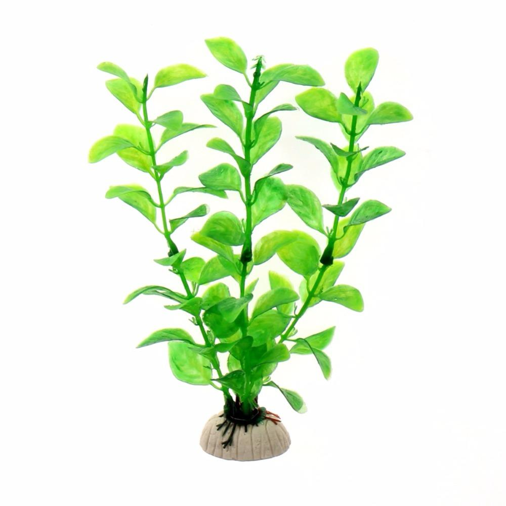 18cm 녹색 인공 꽃 시뮬레이션 보호 재료 PVC 수생 식물 수족관 액세서리 장식