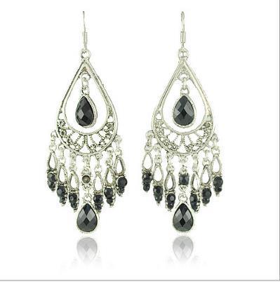 E1242 American Jewelry Retro Bohemian Folk Stil Ohrringe bunte Tropfen Fransen Ohrringe