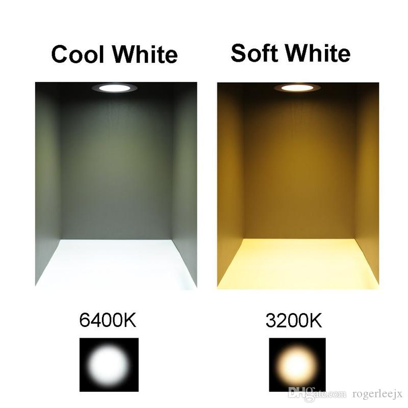 Topoch LED Spotlight Ceiling 4-Pack Low Profile Spring Clips Mount Full Aluminium DC12V 3W for Camper Boat House Sliver White Nickel