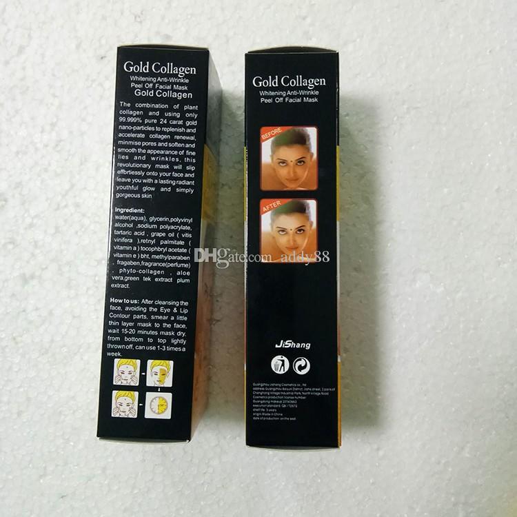 قناع التقشير الذهبي الوجه الذهبي كريستال كولاجين حليب مزيل الرؤوس السوداء قناع الوجه العناية بالبشرة