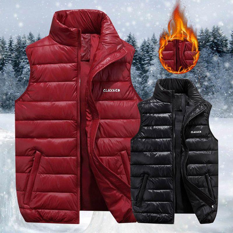 c68a3037a00646 Großhandel 2018 Männer Super Warm Westen Winter Jacken Weste Männer Mode  Sleeveless Solide Zipper Mantel Mantel Warme Westen Plus Größe Von  Sadlyric, ...