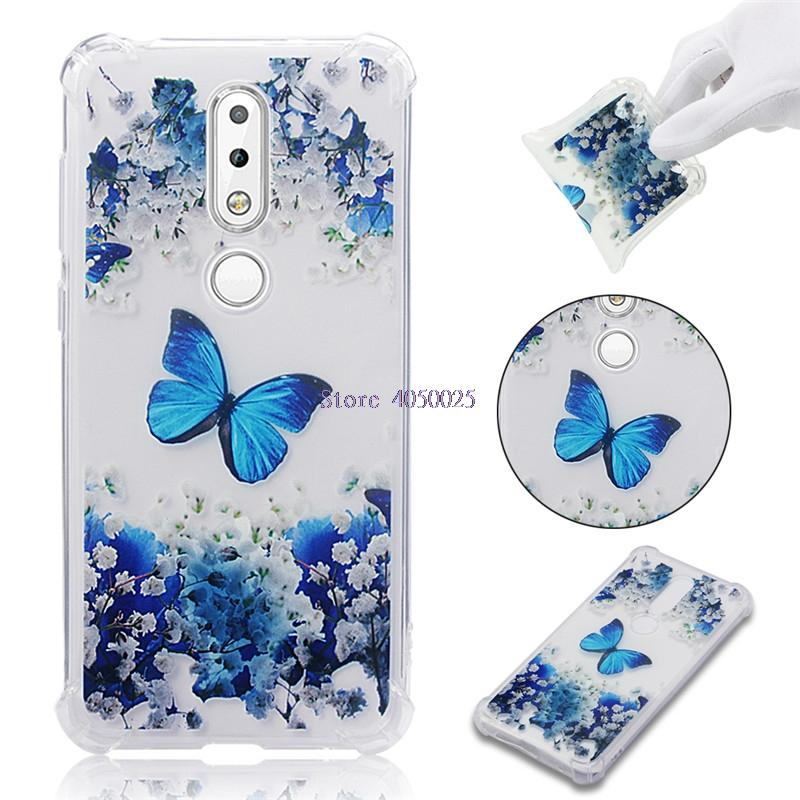 premium selection a541e f8b96 Soft TPU Cover For Nokia 6.1 Plus Case Coque transparent Coloured drawing  Shockproof Cases Nokia6.1 Plus For Nokia X6 phone case