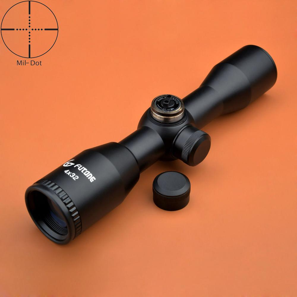 Fortune 4x32 Compact Hunting 22 Scope Mil Dot Rifle Scope Fully