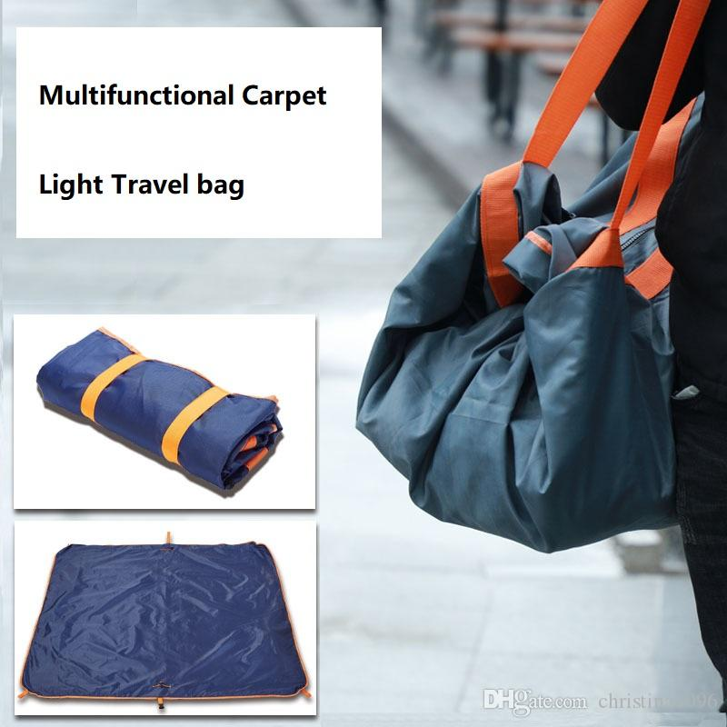 d7243d01f9 Multi Functional Outdoor Lightweight Travel Bag Duffel Bag Convenient  Foldable Picnic Mat Waterproof Carpet Beach Bag Unisex Travel Duffel Bags  Duffle Bags ...