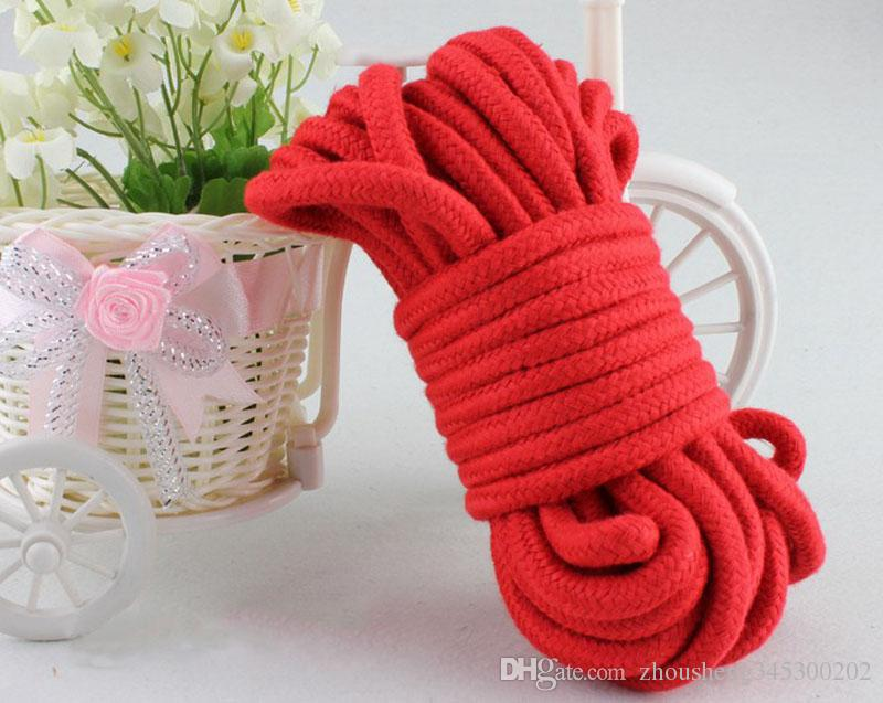 5m 10m Long Cotton Rope Soft Bound Bondage Popes BDSM Game Sex Toys SM Product for Couples Adult