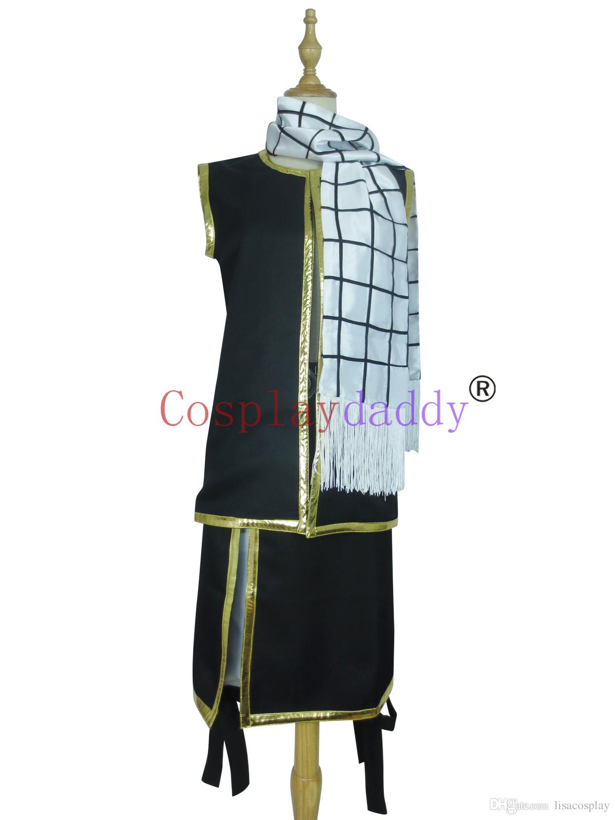 Japanese Anime Outfit Fairy Tail Cosplay Natsu Dragneel Costume H008