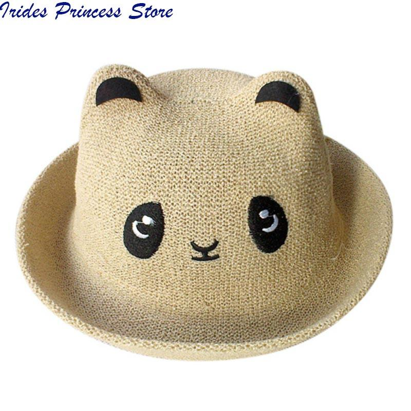 7c9df794452 2019 Fashion Ears Straw Hats Baby Hats For Girls Bucket Hat Boys Cap  Children Sun Summer Cap Kids Solid Beach Panama Caps From Ferdimand