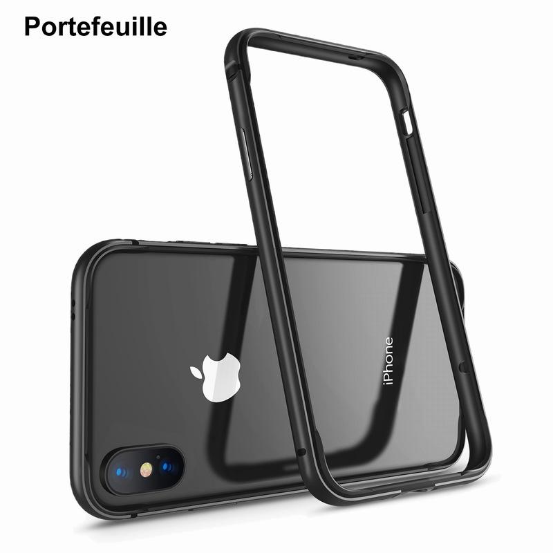 quality design 464d0 963b5 Portefeuille For Iphone X Bumper Case Metal Aluminum Silicone Tpu  Protective Bumper Frame For Apple Iphone X 10 Iphonex Case 5 .8