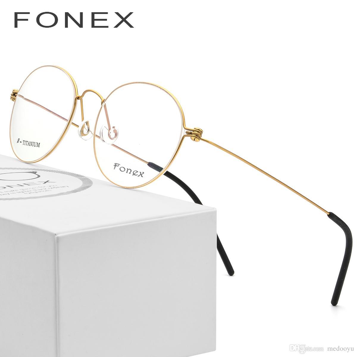 a11ae82f6be98 Compre B Pure Titanium Óculos De Armação Das Mulheres Ultraleve Prescrição  Olho Óculos Homens New Coreano Miopia Armação Óptica Sem Parafusos Eyewear  7510 ...