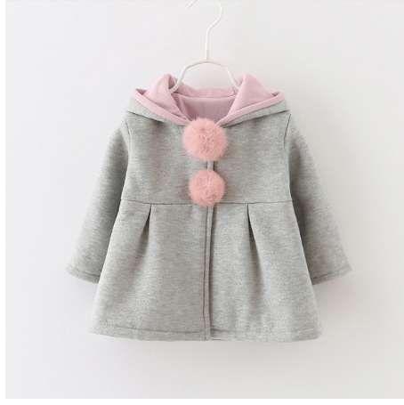 8ecc77d33 Cute Rabbit Ear Hooded Baby Girls Coat Spring Autumn Tops Kids ...