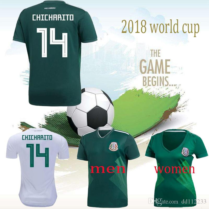 3186f4b6f92 2019 New 2018 Mexico Soccer Jersey Home Men Wome Green Away White CHICHARITO  Camisetas De Futbol H.LOZANO G.DOS SANTOS A.GUARDADO Football Shirts From  ...