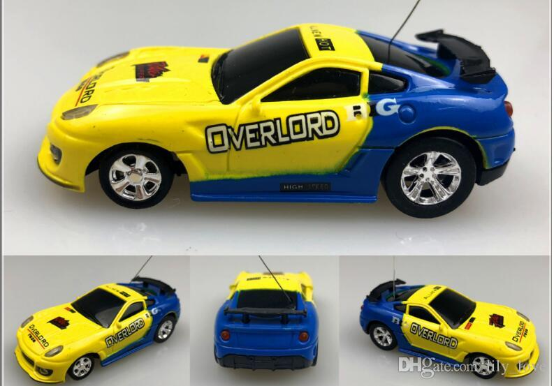 DHL Epacket color Mini-Racer Remote Control Car Coke Can Mini RC Radio Remote Control Micro Racing 1:64 Car 8803 children toy Gift