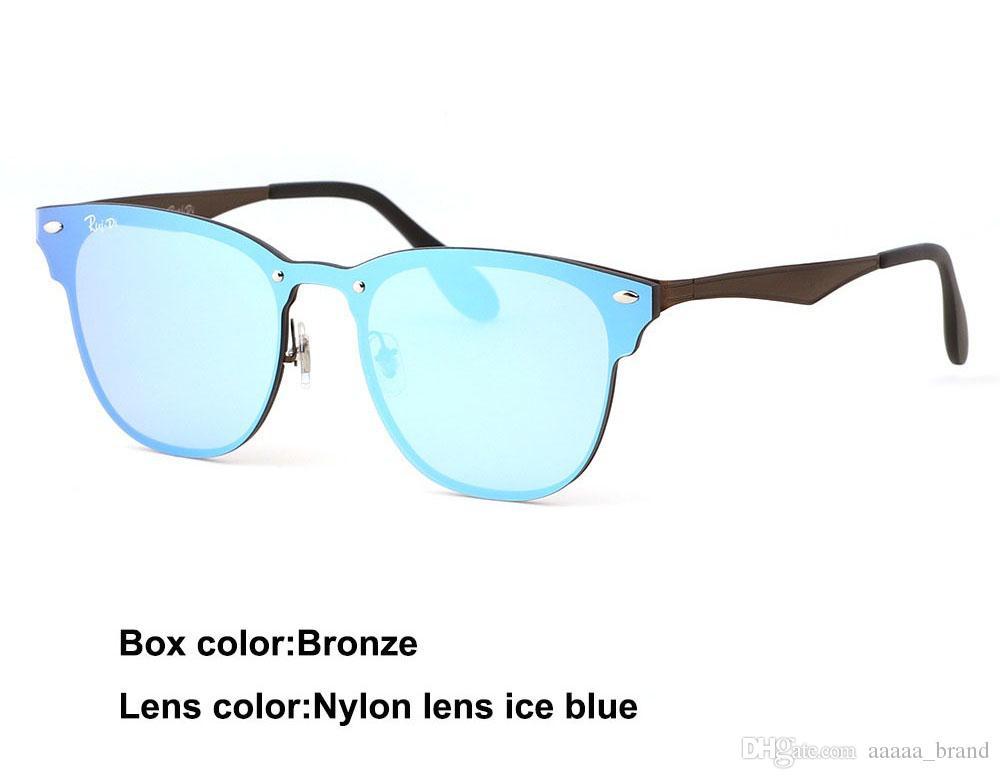 1 adet toptan-Marka tasarımcısı güneş erkekler kadınlar Yüksek kalite Metal Çerçeve uv400 lens moda gözlük gözlük ile ücretsiz kılıfları ve kutu