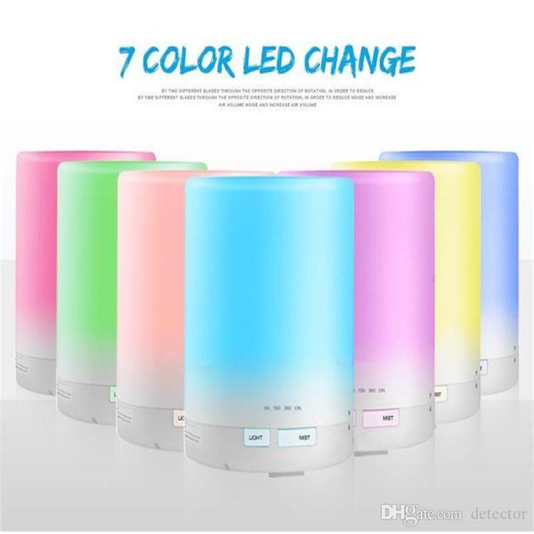 300ml Aroma Huile Essentielle Diffuseur d'air ultrasonique Humidificateur 8-9 HEURES Diffusing continue avec 7 LED couleur de lumière Diffuseur humidificateurs