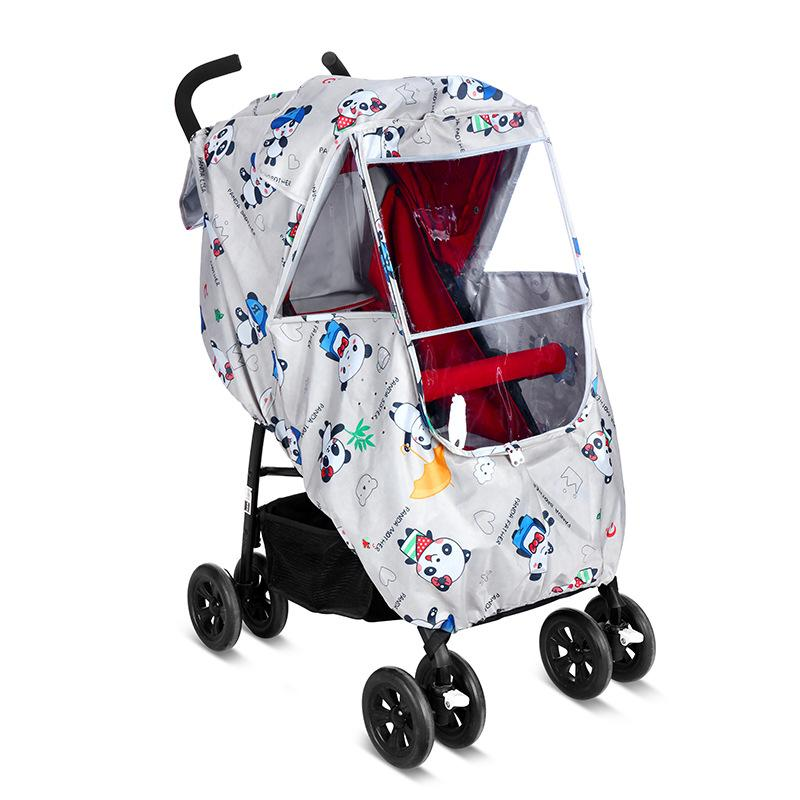 e7be4660aed0 2018 Baby Stroller Accessories Universal Waterproof Rain Cover Wind Dust  Shield for Strollers Pushchairs Wheelchair Buggy Cover