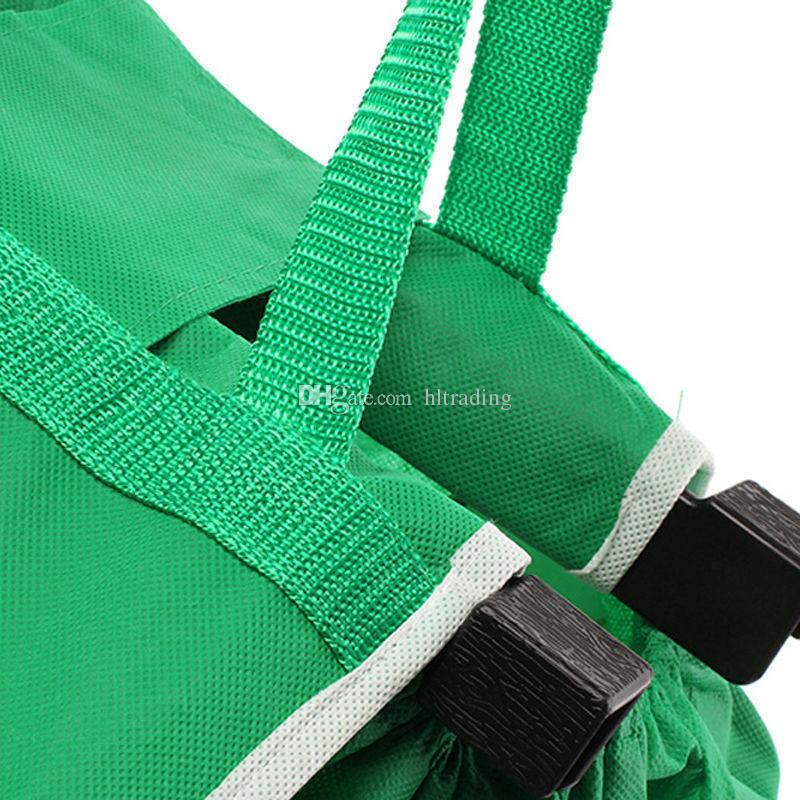 Grab Bag Clip-To-Cart épicerie sacs à provisions réutilisable Eco pliable sac à provisions sacs de rangement boîtes paniers BIg taille C3807