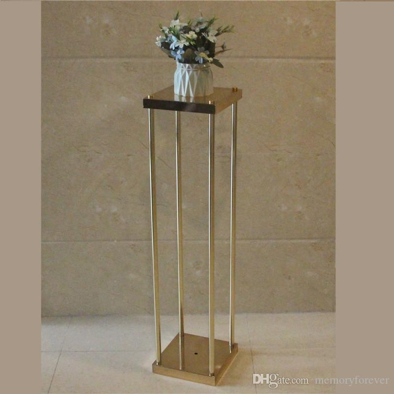Candle Holders 80cm Tall Crystal Table Centerpiece Gold Flower Stand Wedding Props Elegant In Style Candles & Holders