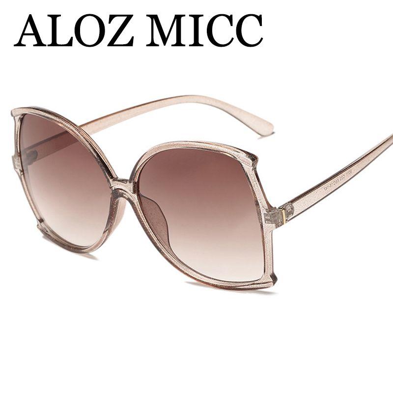 2e9e172ca0a ALOZ MICC Vintage Oversize Square Sunglasses Women 2018 Brand ...