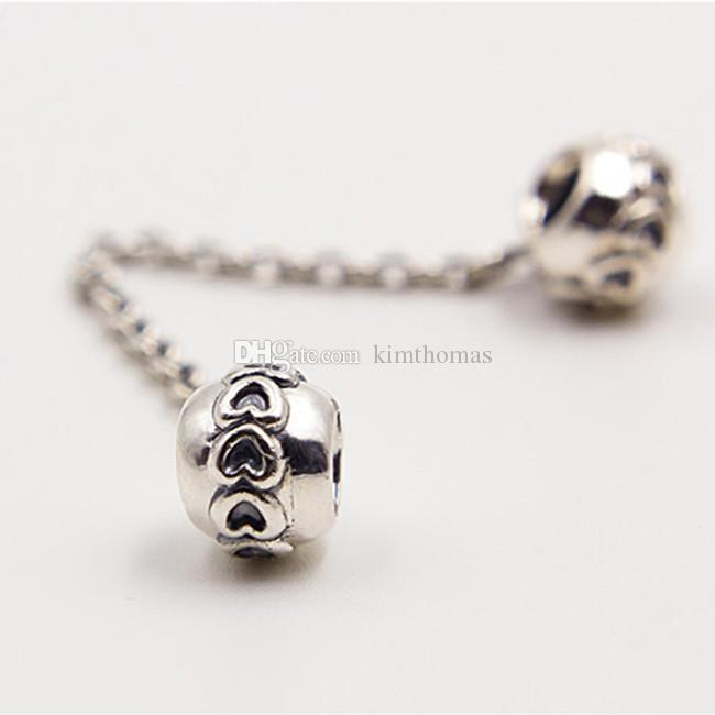 1ff8c36db 925 Sterling Silver Safety Chain Charm Bead Fits European Pandora ...