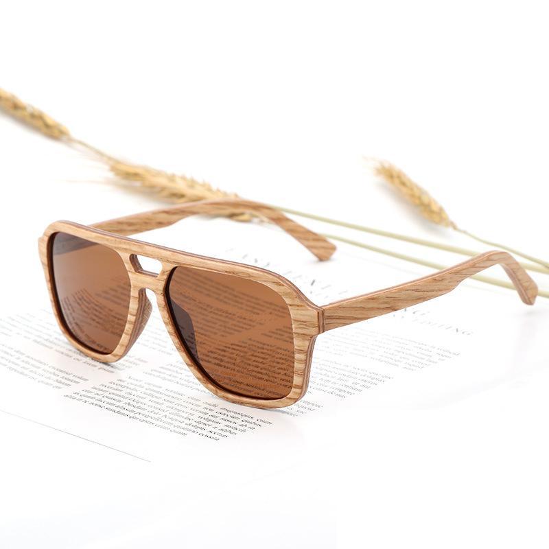 Compre Gafas De Sol Polarizadas BerWer Para Hombre Marco De Madera Para  Hombres Uv400 Lentes Para Mujer Gafas De Sol De Madera A  64.88 Del  Shuocong ... 911a338fb547