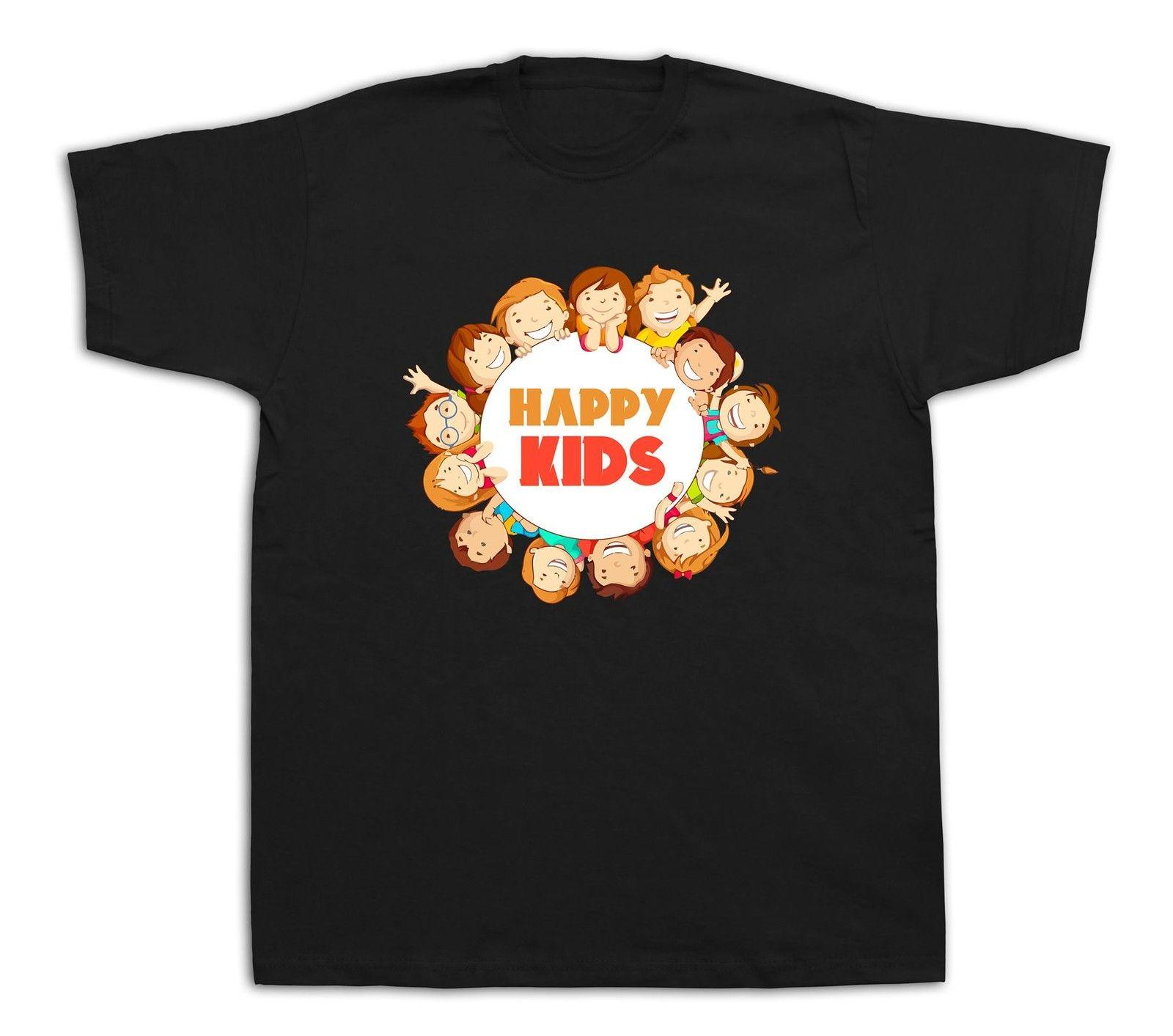 Happy Family kids world future funny T shirt fashion party children face  smily 1d4e7f389a
