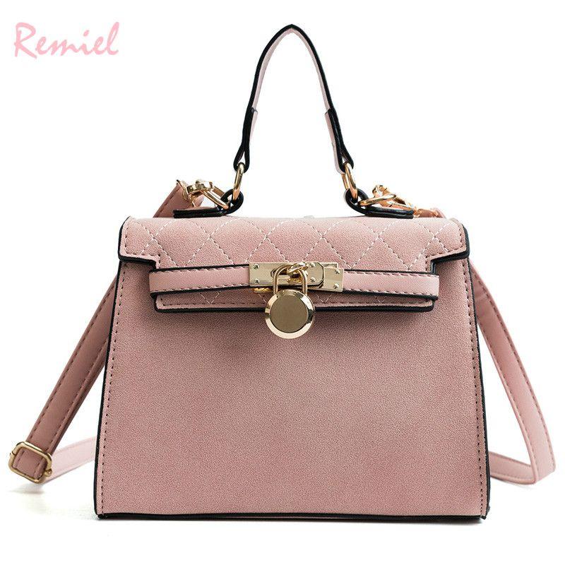 fb0fdffeab Remiel Brand Women S Designer Handbag 2018 New Fashion Tote Bag High  Quality Matte Leather Women Bag Shoulder Messenger Bags Pink Handbags  Branded Handbags ...