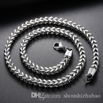 Punk Rock Metal Long Chains Link Necklace For Men Stainless Steel 3MM Wide 18-30 Inch Vintage titanium 2017 Statement Jewelry CHN001