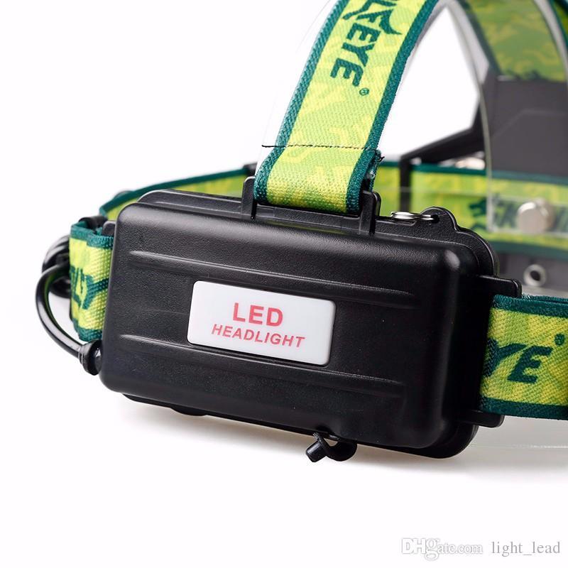 Projecteur LED 1 * T6 + 2 * XPE 4 Modes 3600Lm Projecteur LED Lampe de poche étanche Lampe de chasse Super Bright pour Vélo Camping Randonnée