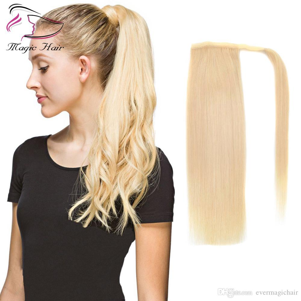 2019 New Products 24 Long Straight Ponytail Clip In Pony Tail Hair