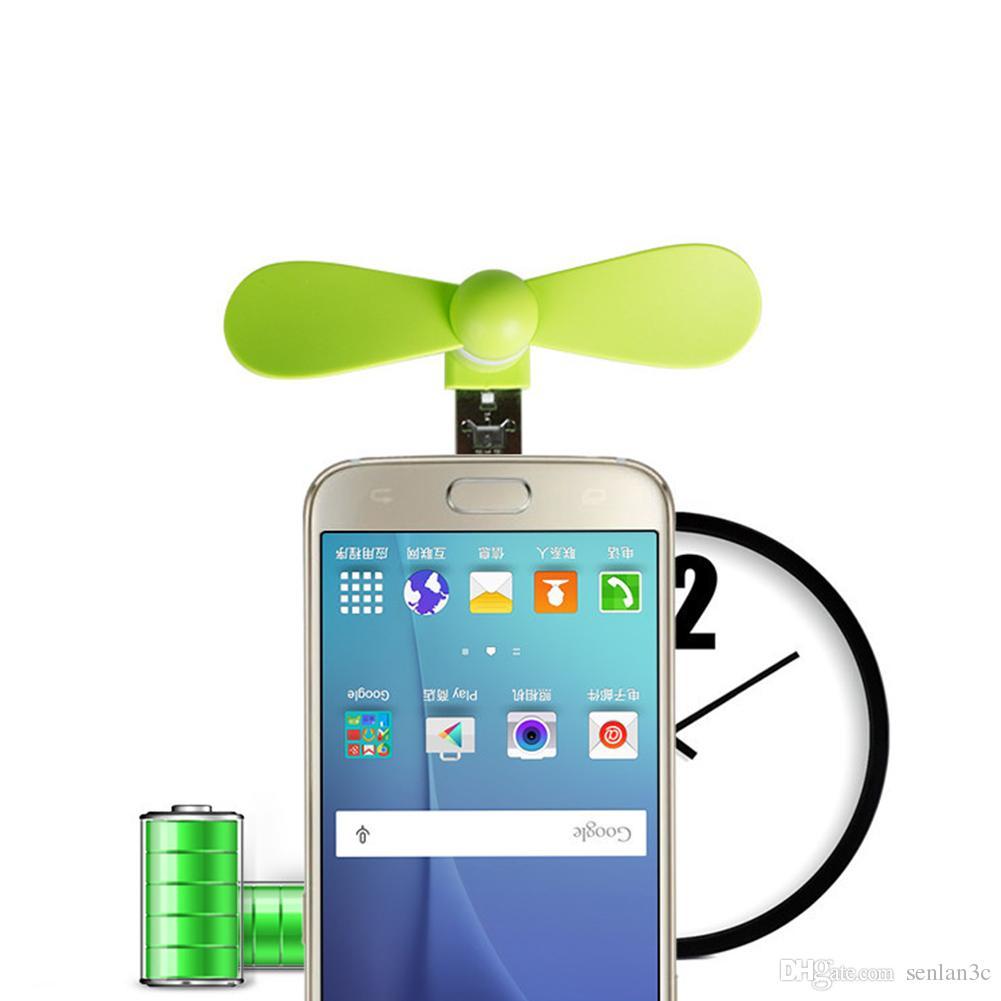 Mini Cool Micro USB Mobile électrique Fan USB Gadget Ventilateur de téléphone portable pour iPhone type-c Samsung s7 bord s8 plus