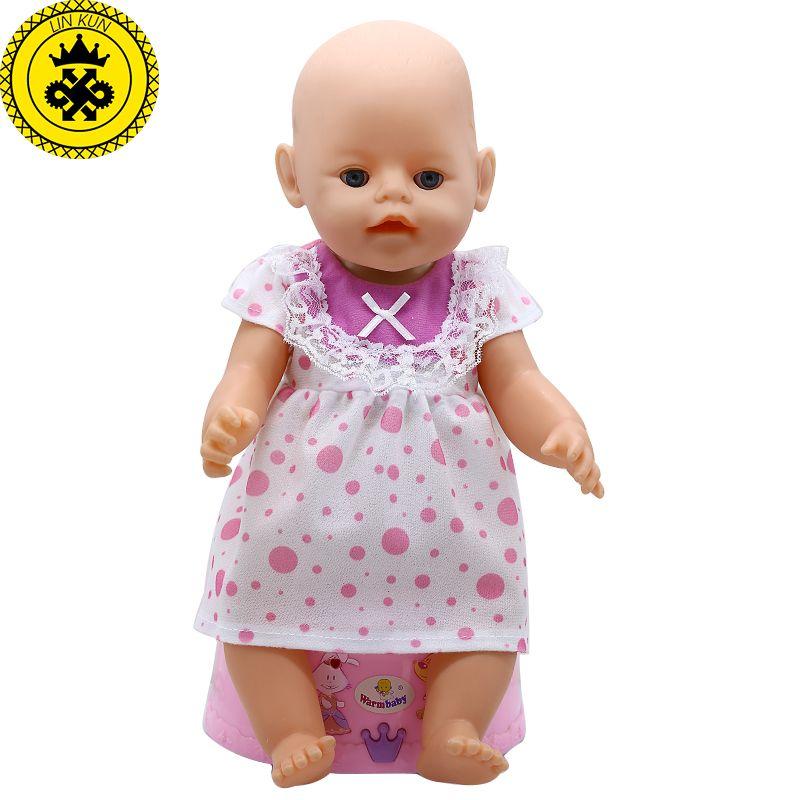 4edb425c6 Baby Born Doll Clothes Wave Point Striped Princess Skirt Dress Fit ...