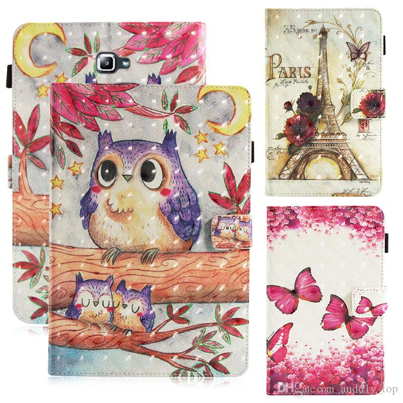 info for 74b10 6fd01 Cartoon Printed PU Flip Cover Case for iPad Pro 9.7 Air Mini 234 kickstand  Tablet PC Cases for Amazon New Fire HD8
