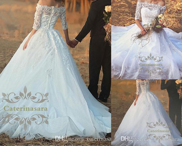 Marvelous Satin Off The Shoulder Neckline A Line Wedding Dresses ...
