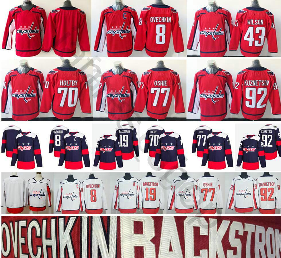 10a043972 2018 Washington Capitals Hockey 8 Alex Ovechkin 43 Tom Wilson 77 ...