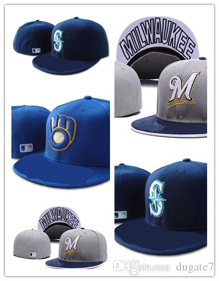 new concept a56cf a5cb4 New Seattle Mariners Fitted Hat Embroidery Letter Sun Hats Snapback Hip Hop  Dance Hat Summer Outdoor Men Women White Black Wholesale Hats Caps Online  From ...