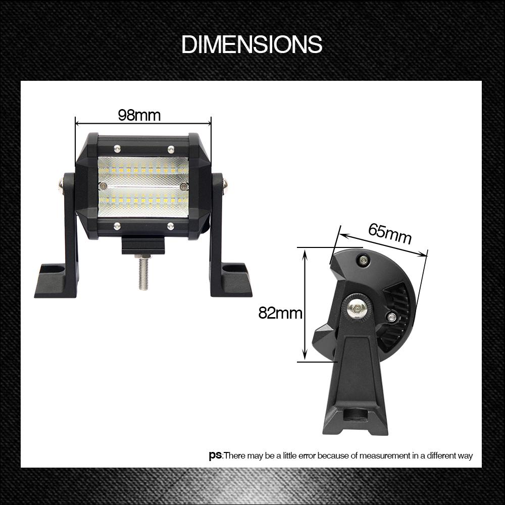 1 Pair Car Front Lights 54W 5400Lm 108W Flood Working Light 8D Led Chips 6000K for Gaz Jeep Lada Niva Toyota VW
