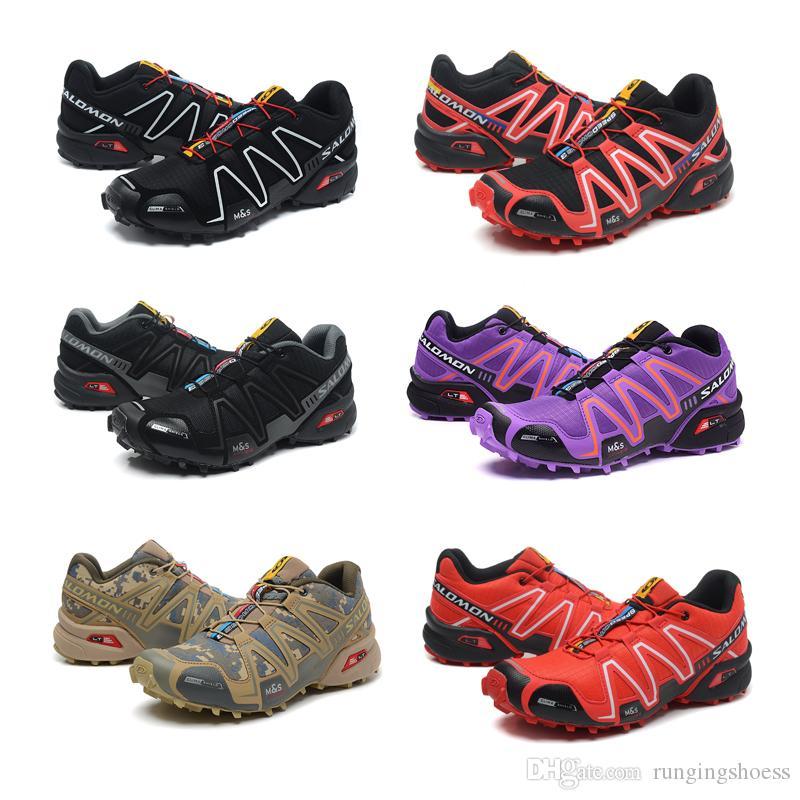 5f4773943f8 Salomon Speed Cross 3 CS III Negro Hombres Zapatos Deportivos Hombres Speed  Crosspeed 3 Zapatillas Deportivas Para Hombre Al Aire Libre EUR 40 46 Por  ...