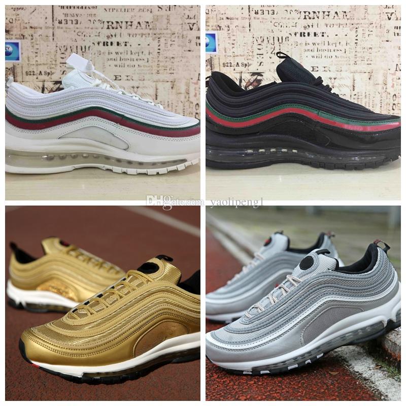 d478de597850 2018 Mens Womens Shoes Classic 97 Men Casual Shoes Black White ...