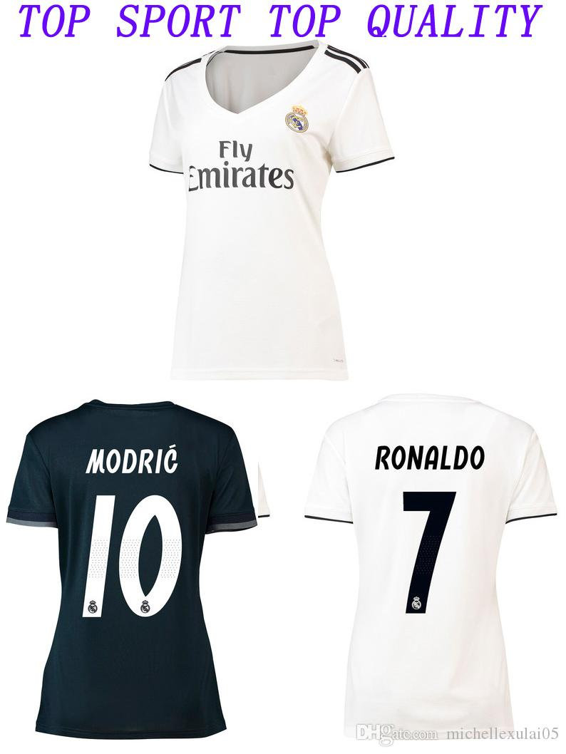 2019 2018 2019 Real Madrid Soccer Jersey Womens 18 19 RONALDO Bale ASENSIO  Kroos Modric Football Shirts Female Madrid Home Away Football Uniforms From  ... 9fb35100d