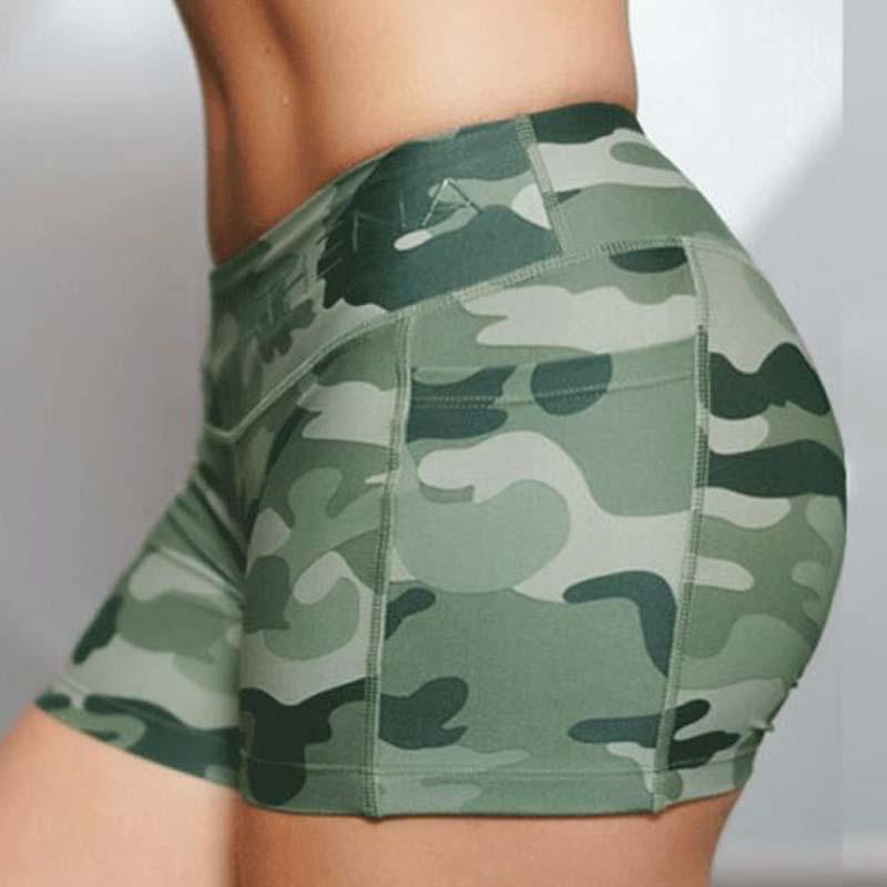 bc726989cb29a 2019 Woman Camouflage Sports Shorts Training Quick Dry Fitness Short  Bodybuilding Gym Running Workout Sportswear Yoga Suit From Yerunku, $20.91  | DHgate.Com
