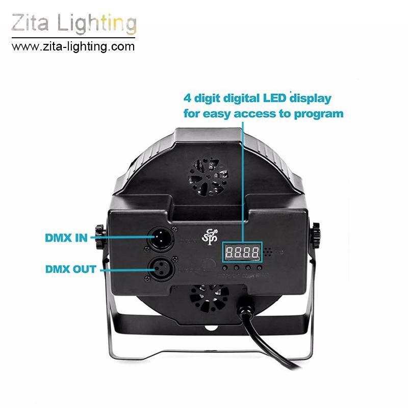 Zita Lighting LED Par Lights Par Can Mini Stage Lighting 18X3W RGBW LED DJ DMX512 Spot Washer Disco Party Effect Atmosphere
