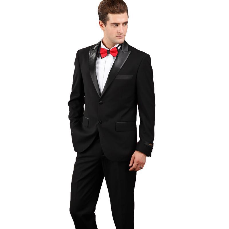 Compre Trajes De Boda Para Hombres 2018 Últimos Trajes De Diseño De  Pantalón De Abrigo Con Pantalones Negro Trajes De Hombre De Alta Calidad De  Corte Slim ... cc44e302882