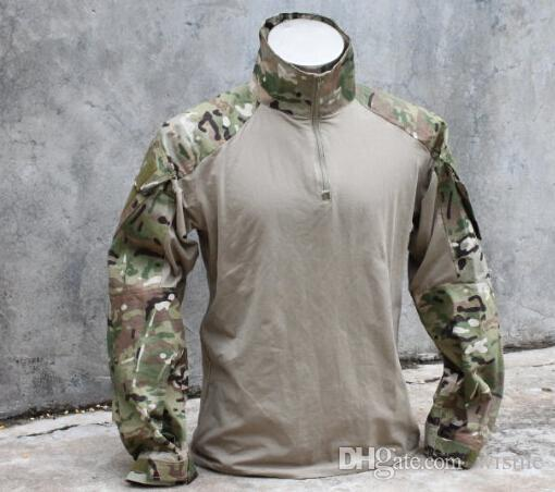 Wholesale-Combat Shirt airsoft military Multicam camouflage Cotton Nylon hunting jackets free shipping.